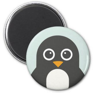 Niedlicher Penguin-Magnet Runder Magnet 5,7 Cm