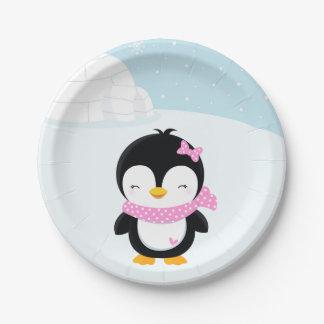 Niedlicher Penguin Pappteller