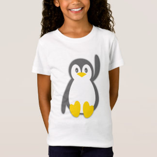 Niedlicher Penguinwellen-Mädchen-T - Shirt