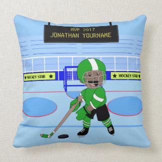 Niedlicher personalisierter Eis-Hockeystern Kissen