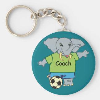 Niedlicher personalisierter Fußball-Elefant Schlüsselanhänger