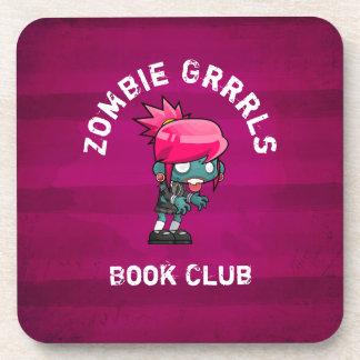 Niedlicher Punkfelsen-Zombie Grrrls Buch-Verein Untersetzer