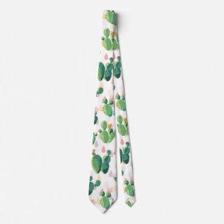 Niedlicher reizender saftiger Kaktus Bedruckte Krawatte