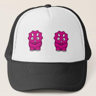 Niedlicher rosa Cartoon-Dinosaurier Truckerkappe