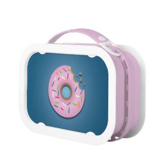 Niedlicher rosa Krapfen mit besprüht Yubo Lunchbox