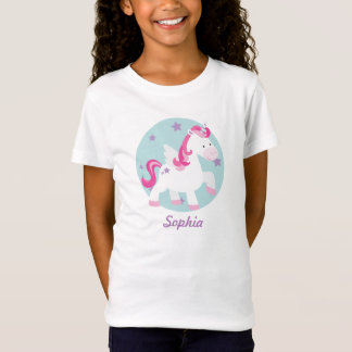 Niedlicher rosa personalisierter magischer T-Shirt