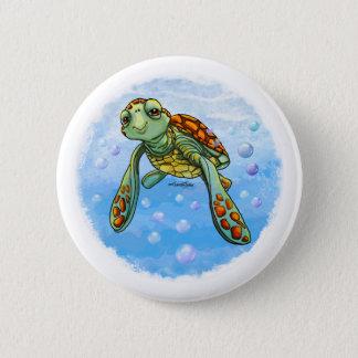 Niedlicher Seeschildkröteknopf Runder Button 5,1 Cm