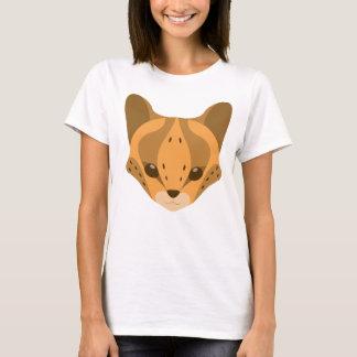 Niedlicher Serval-Kopf-Logo-T - Shirt