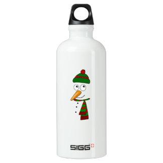 Niedlicher Snowman Aluminiumwasserflasche