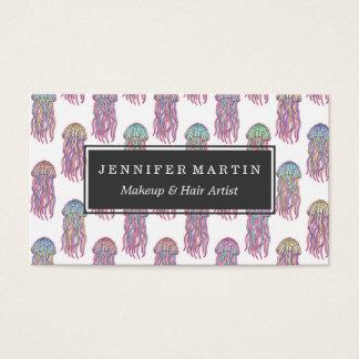 Niedlicher Sommer-elektrische rosa aquamarine und Visitenkarten