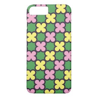 Niedlicher Sommer färbt Quatrefoil Muster iPhone 8 Plus/7 Plus Hülle