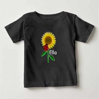 Niedlicher Sonnenblume-Baby-Geldstrafe-Jersey-T - Baby T-shirt