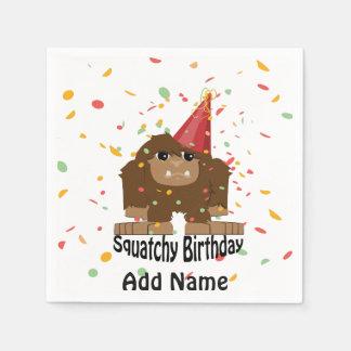 Niedlicher Squatchy Geburtstag Bigfoot Serviette