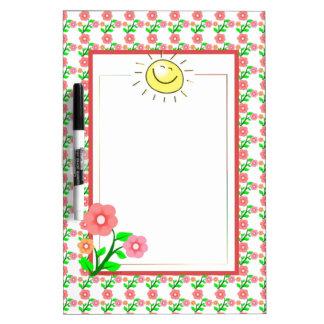 Niedlicher Sun und Blumen-trockenes Löschen Memo Boards