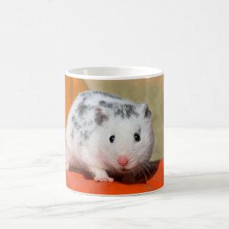Niedlicher syrischer Hamster-weißes schwarzes Tasse