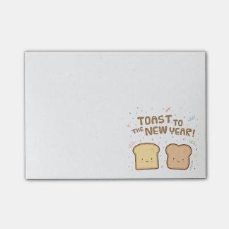Niedlicher Toast zum neues Post-it Klebezettel