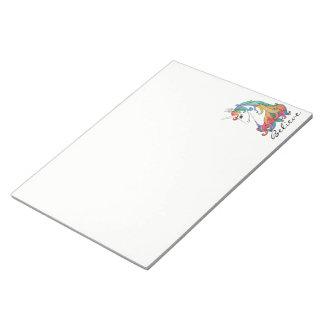 Niedlicher Unicorn Regenbogen des Watercolor Notizblock