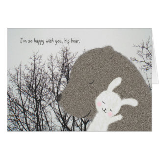 Niedlicher Valentines Tag des Bären u. Karte