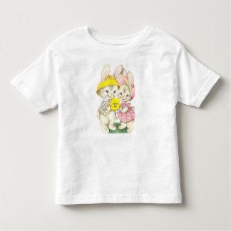 Niedlicher Vintager Osterhasen-Kaninchen-T - Shirt