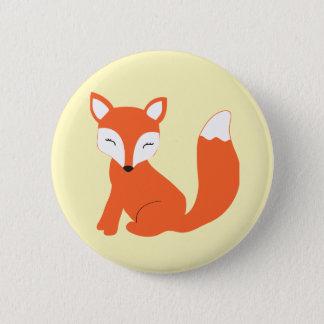 Niedlicher WaldbabyFox Runder Button 5,7 Cm