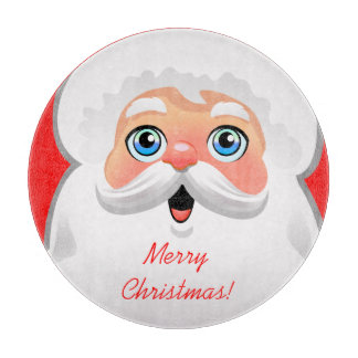 Niedlicher Weihnachtsmann-Cartoon Schneidebrett