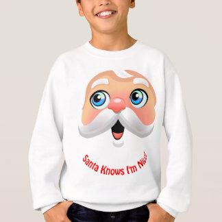 Niedlicher Weihnachtsmann mit rosigen Backen Sweatshirt