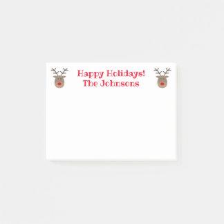 Niedlicher Weihnachtsren-Gewohnheit Feiertag Post-it Klebezettel