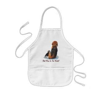 Niedlicher Welpen-Beagle mit Mamahunderealistkunst Kinderschürze