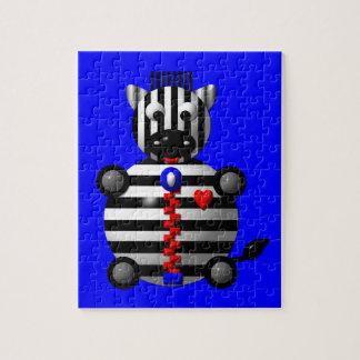 Niedlicher Zebra mit Reißverschluss Puzzle