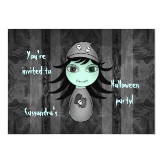 Niedlicher Zombie Halloween scherzt Party 12,7 X 17,8 Cm Einladungskarte