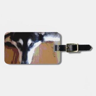 Niedliches alaskischer Malamute-Gesicht Gepäck Anhänger