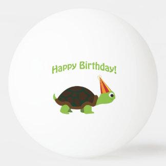 Niedliches alles Gute zum Geburtstag! Schildkröte Tischtennis Ball