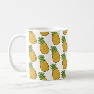 Niedliches Ananas-Muster Kaffeetasse