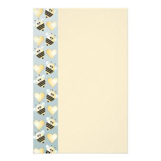 Niedliches Bienen-Honig-Herz-Briefpapier Briefpapier