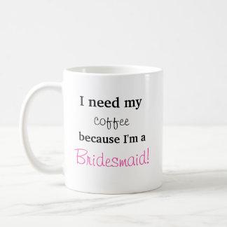 Niedliches Brautjungfern-Geschenk - ich benötige Kaffeetasse