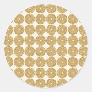 Niedliches Brown TAN kreist Scheiben-Poker-Chip-Mu Runde Aufkleber