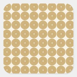 Niedliches Brown TAN kreist Scheiben-Poker-Chip-Mu Quadratsticker