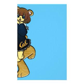 Niedliches cal-Bärn-Mädchen Briefpapier