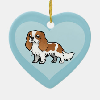 Niedliches Cartoon-Haustier Keramik Herz-Ornament