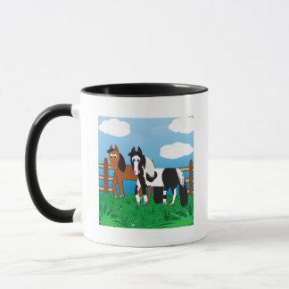 Niedliches Cartoon-Pferd Tasse