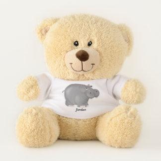 Niedliches das Baby-Flusspferd des Kindes Teddybär