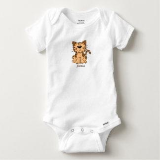Niedliches der Tabby-Kätzchen des Babys Baby Strampler