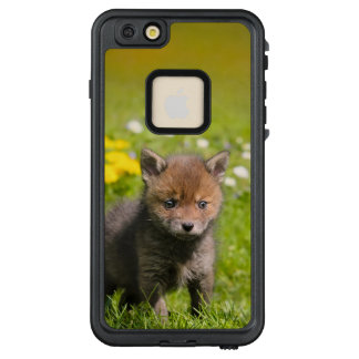 Niedliches flaumiges rotes wildes _Baby Fox CUB LifeProof FRÄ' iPhone 6/6s Plus Hülle