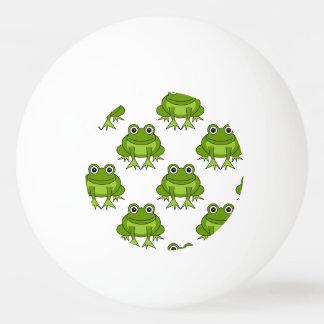 Niedliches Frosch-Muster Tischtennis Ball
