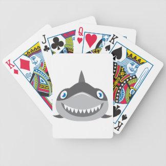 niedliches glückliches Haifischgesicht Bicycle Spielkarten