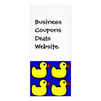 Niedliches helles gelbes Ducky Gummimuster auf Kartendruck