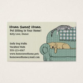Niedliches Hunde-und Katzen-Haustier, das | Visitenkarte