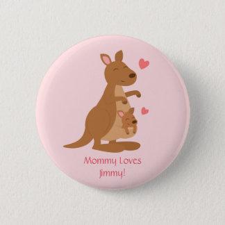 Niedliches Känguru-Baby Joey für Kinder Runder Button 5,7 Cm