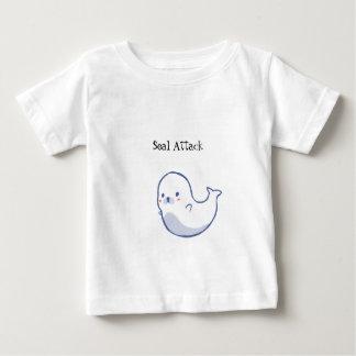 Niedliches KinderSiegel-Angriffs-T-Shirt Baby T-shirt
