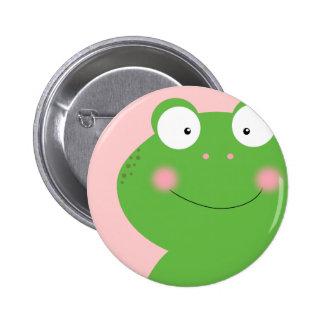 Niedliches kleines Froggy-Button Runder Button 5,1 Cm